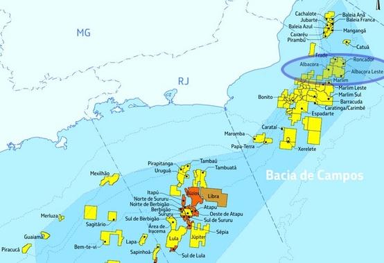 Os campos de Albacora e Albacora Leste na Bacia de Campos são colocados à venda pela Petrobras