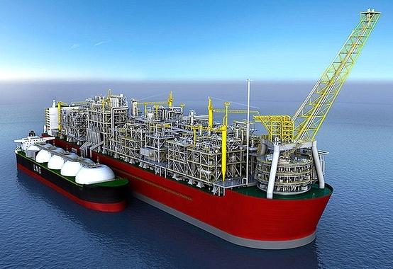 Shell lança ao mar o casco da maior instalação flutuante do mundo