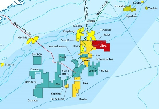 Área Sudeste do bloco de Libra, na BS é devolvida pela Petrobras à ANP