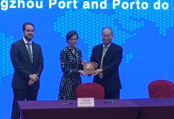 Porto do Açu se aproxima da China e fecha acordo de cooperação  com o Porto de Guangzhou