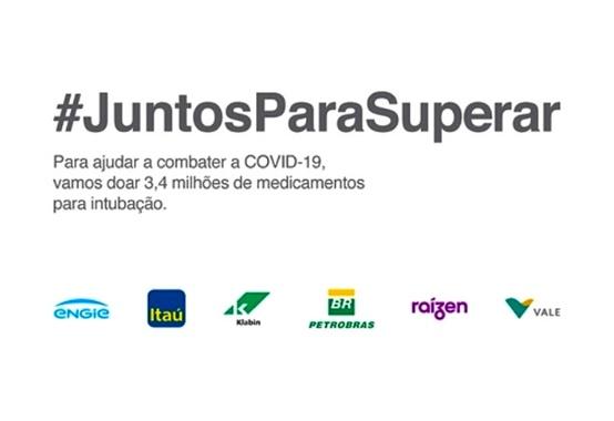 Grupo de empresas se unem para doar 3,4 milhões de medicamentos para intubação
